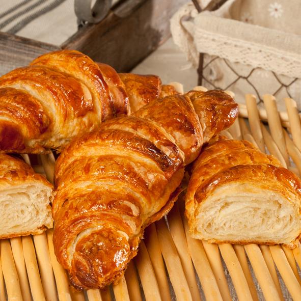 Croissant pur beurre bio 75 gr
