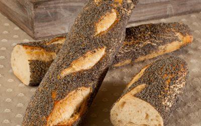 Baguette rustique pavot bio